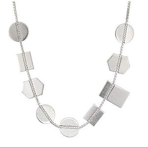 Madewell Holding Pattern Necklace Silver